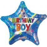 "BIRTHDAY BOY STAR BALLOON 18""  15138-18"